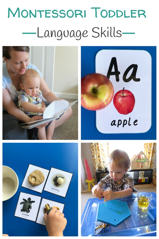 This ebook is a resource for developing Montessori toddler language skills at home. It includes 12 chapters and 130+ pages of amazing printables! - www.mamashappyhive.com