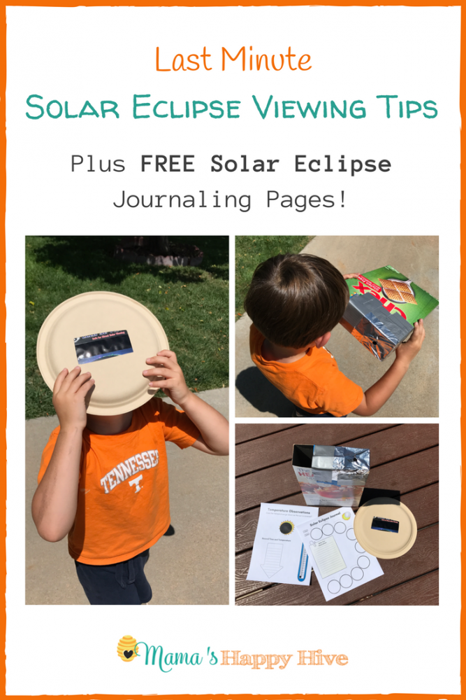 Last Minute Solar Eclipse Viewing Tips