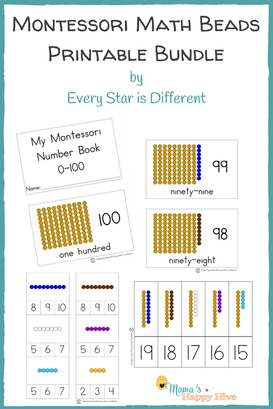 Montessori Math Beads Printable Bundle