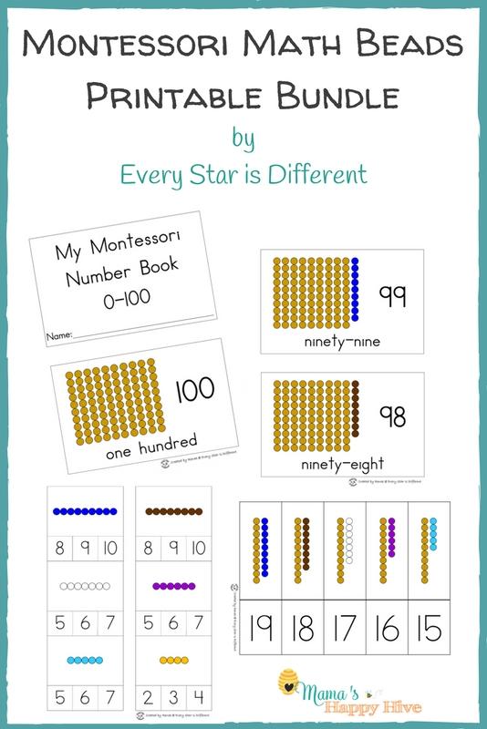 Montessori Math Beads Printable Bundle