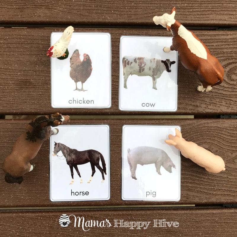 Toddler Farm Animal Matching Cards Printable