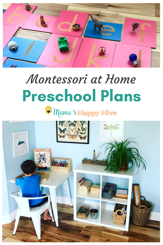 Our Montessori at Home Preschool Plans is an outline of the lessons we hope to cover next year. Included are two free printables - weekly & monthly planner. - www.mamashappyhive.com