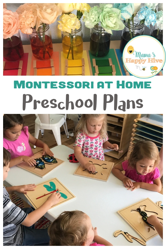 Montessori at Home Preschool Plans
