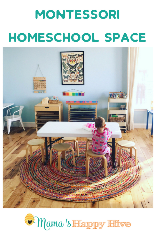Step into our home and see how our Montessori homeschool space has morphed over time from the unfinished basement to the family room. Also, information about our Montessori inspired monthly co-op and set-up with materials. - www.mamashappyhive.com